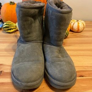 Grey Classic Short Ugg Boots